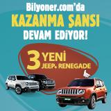 Bilyoner'den 3 Jeep Renegade Birden!