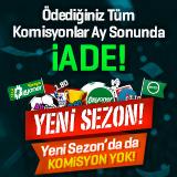 Bilyoner.com'da Tatil Yok Komisyon Yok!
