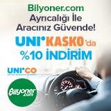 Bilyoner Üyelerine Özel UniKasko'da %10 İndirim!